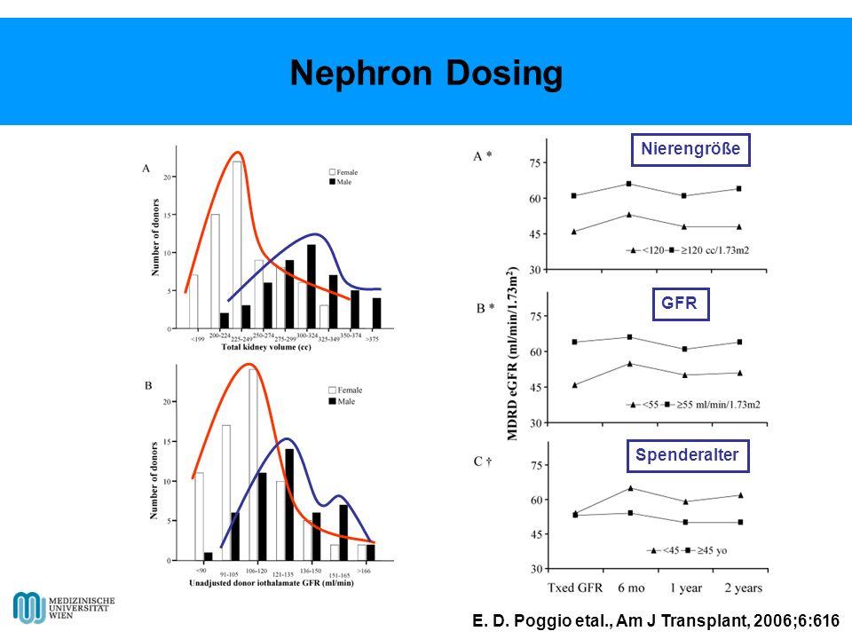 Nephron Dosing Nierengröße GFR Spenderalter