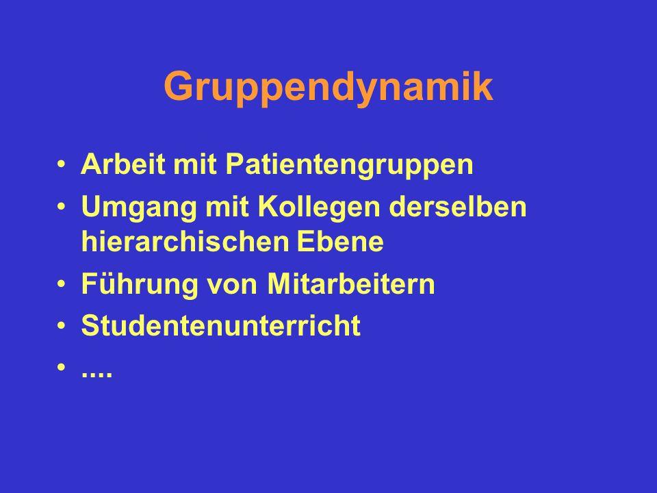 Gruppendynamik Arbeit mit Patientengruppen