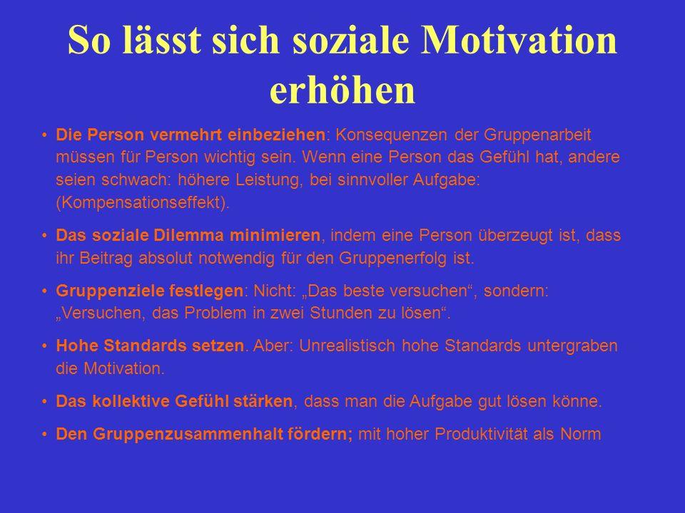 So lässt sich soziale Motivation erhöhen
