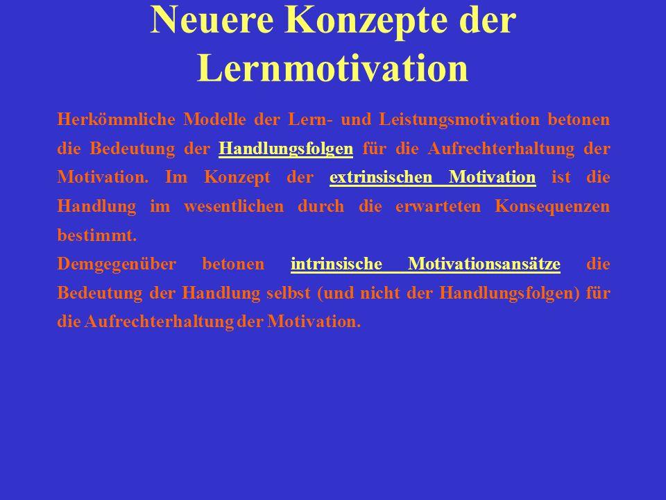 Neuere Konzepte der Lernmotivation