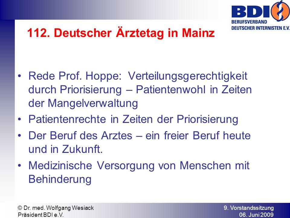 112. Deutscher Ärztetag in Mainz