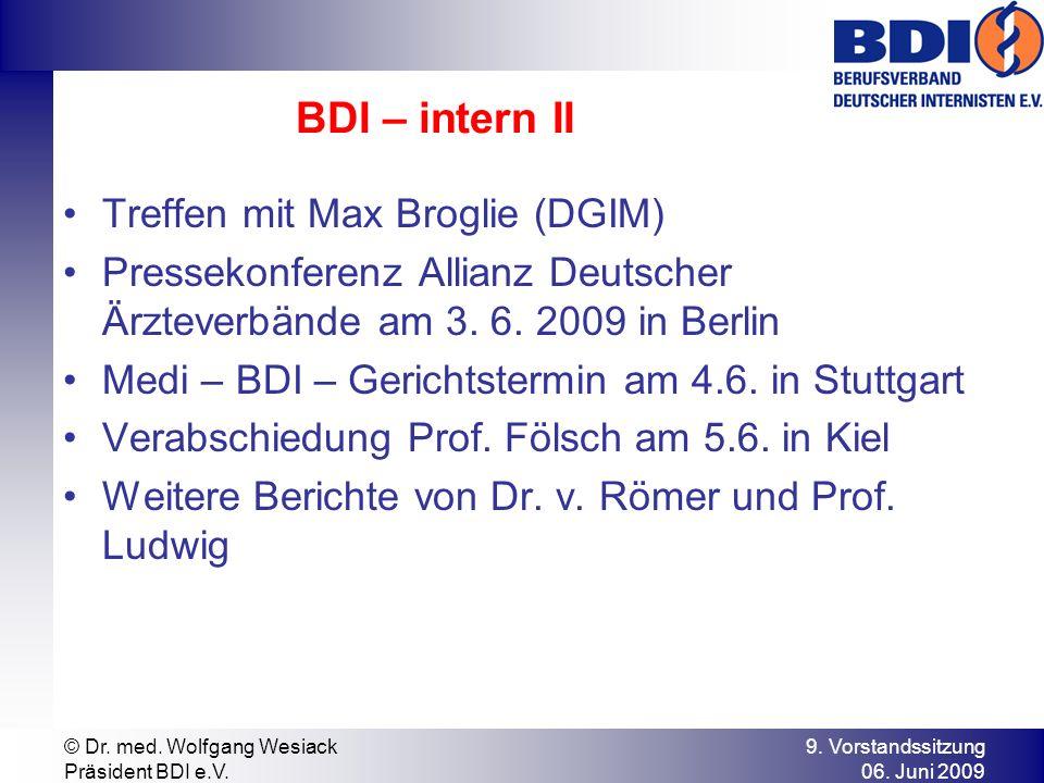 BDI – intern II Treffen mit Max Broglie (DGIM)