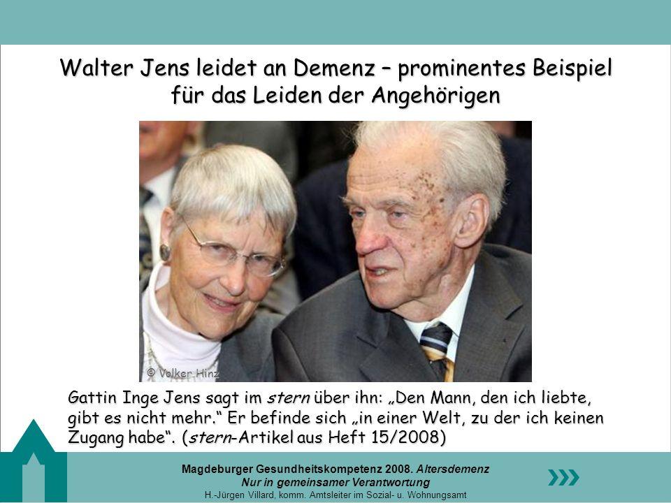 Walter Jens leidet an Demenz – prominentes Beispiel für das Leiden der Angehörigen