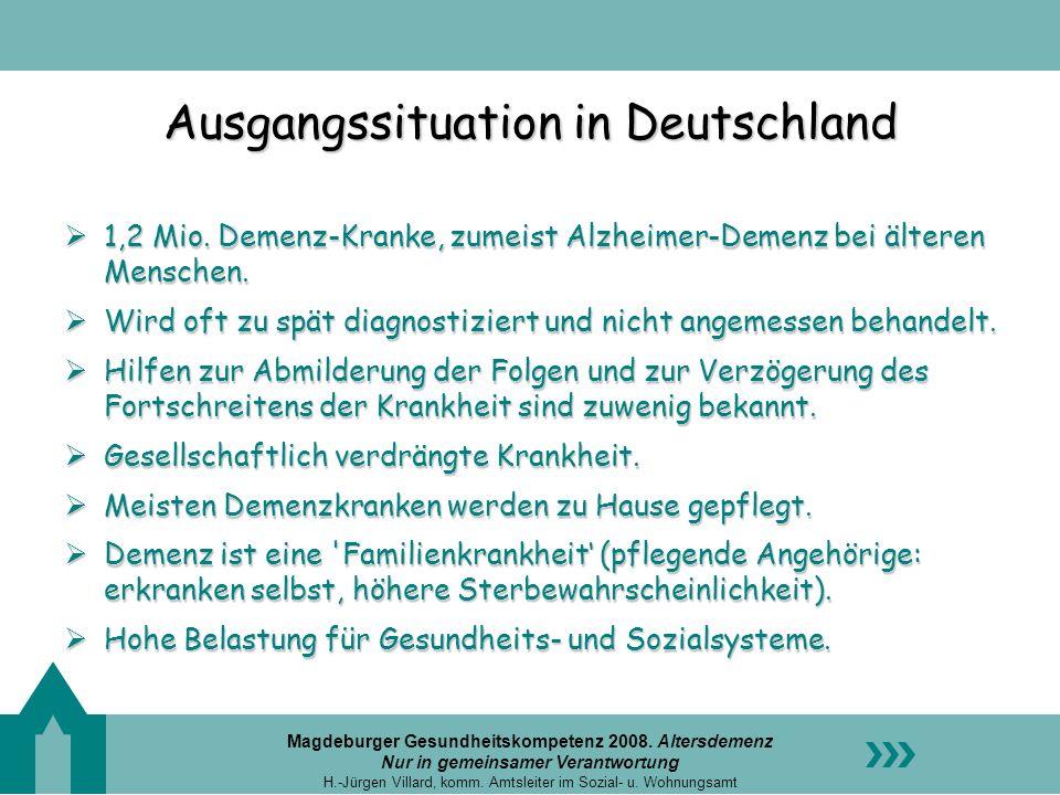 Ausgangssituation in Deutschland