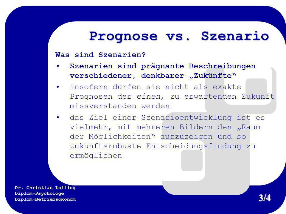 Prognose vs. Szenario 3/4 Was sind Szenarien