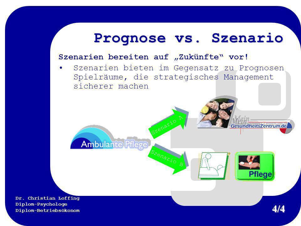 """Prognose vs. Szenario 4/4 Szenarien bereiten auf """"Zukünfte vor!"""