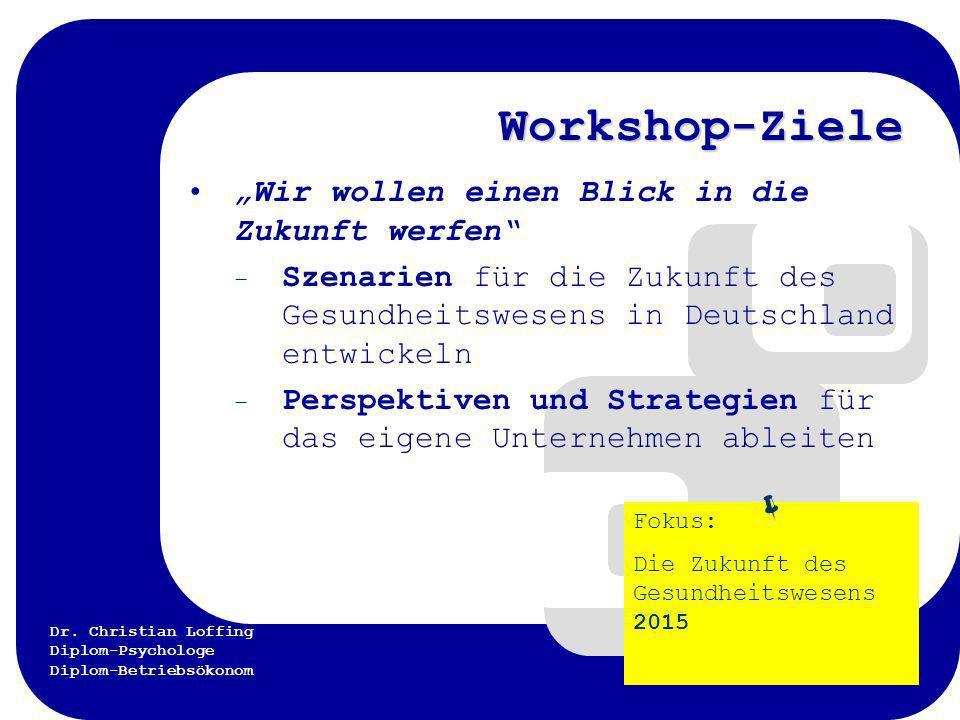 """Workshop-Ziele  """"Wir wollen einen Blick in die Zukunft werfen"""