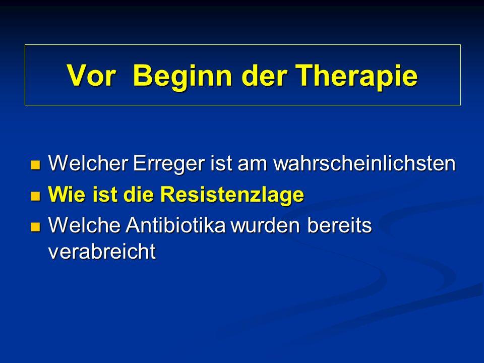 Vor Beginn der Therapie