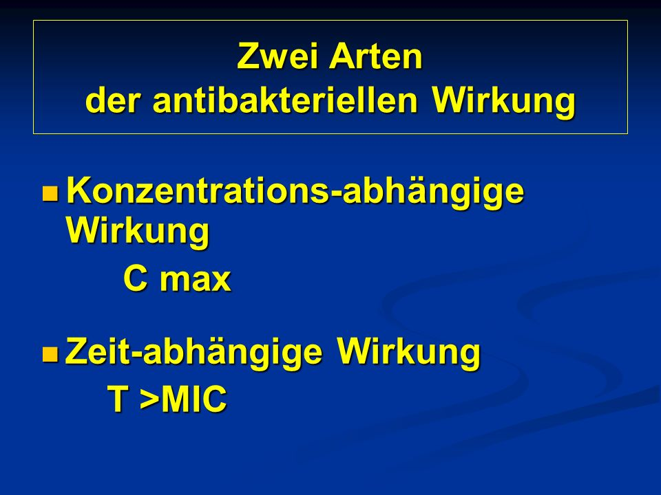 Zwei Arten der antibakteriellen Wirkung