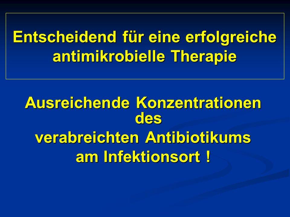 Entscheidend für eine erfolgreiche antimikrobielle Therapie