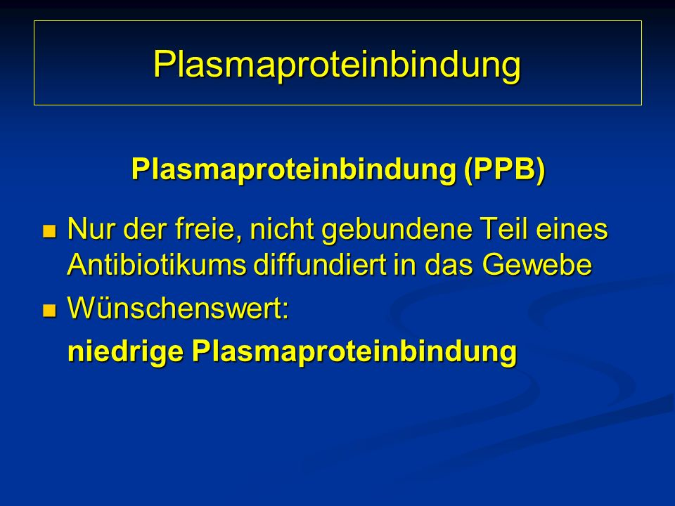Plasmaproteinbindung