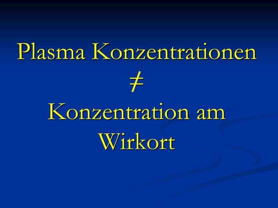 Plasma Konzentrationen = Konzentration am Wirkort