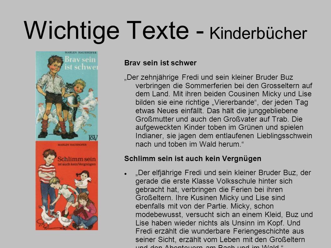 Wichtige Texte - Kinderbücher
