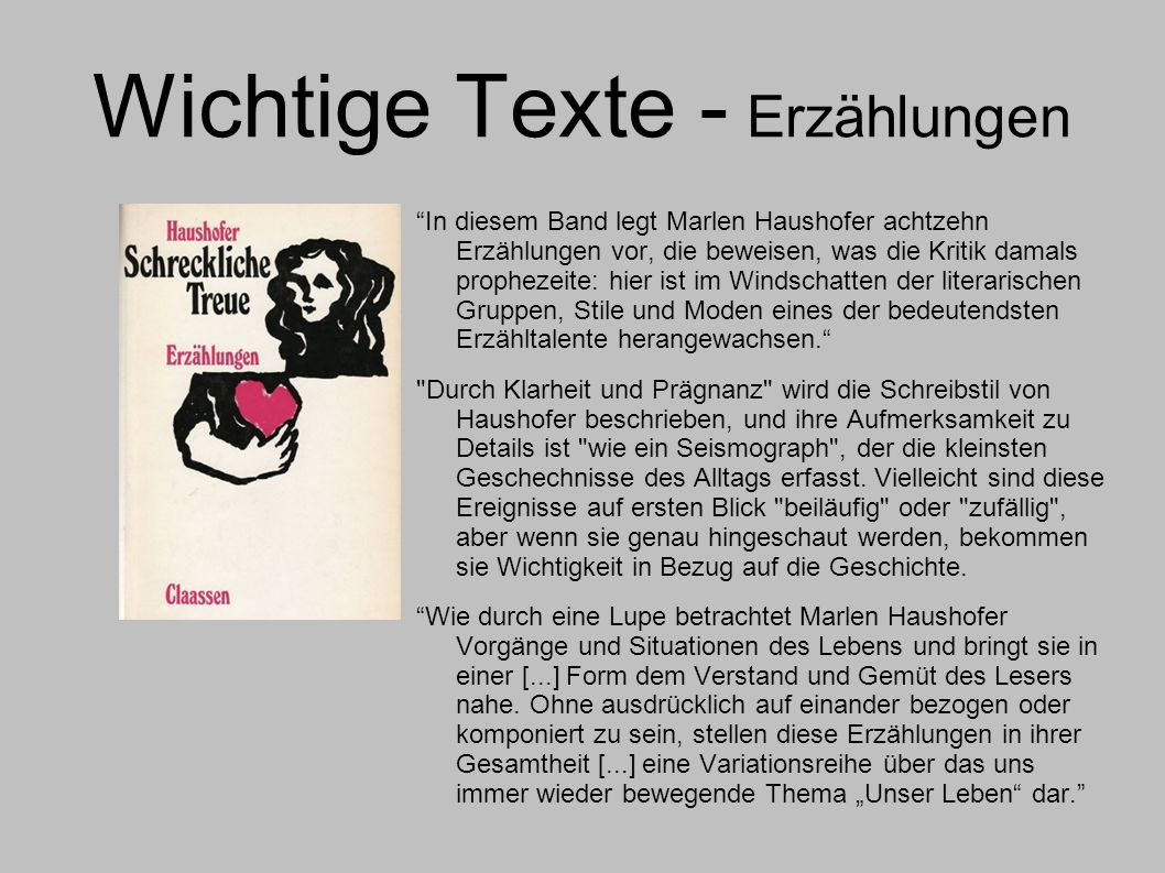 Wichtige Texte - Erzählungen