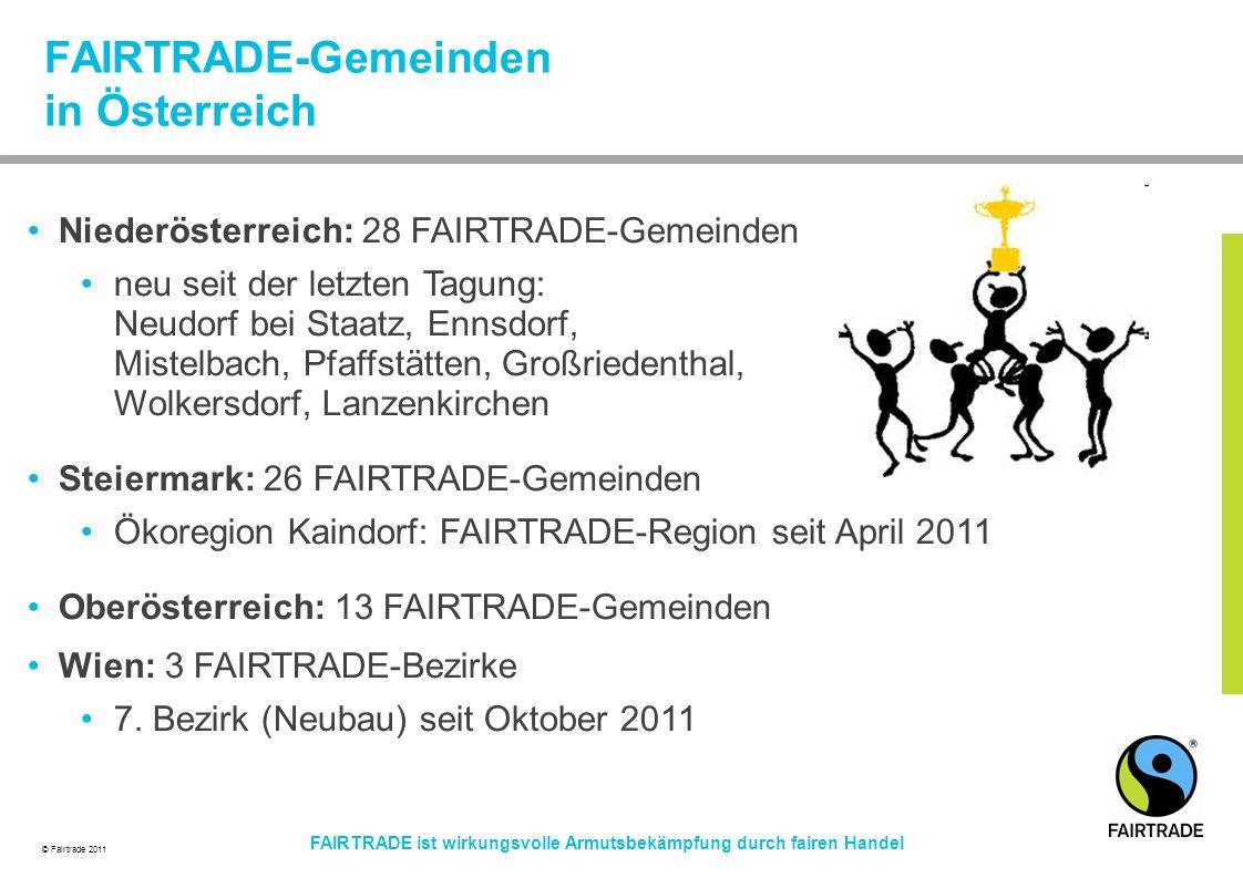 FAIRTRADE-Gemeinden in Österreich