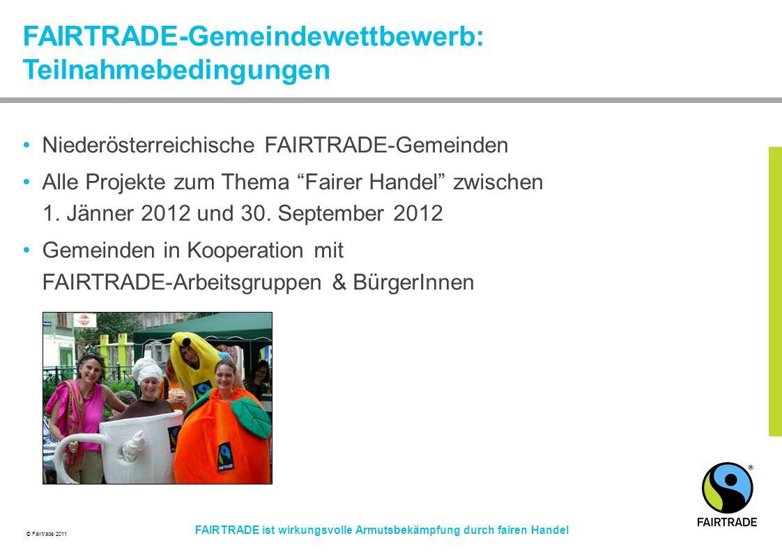 FAIRTRADE-Gemeindewettbewerb: Teilnahmebedingungen