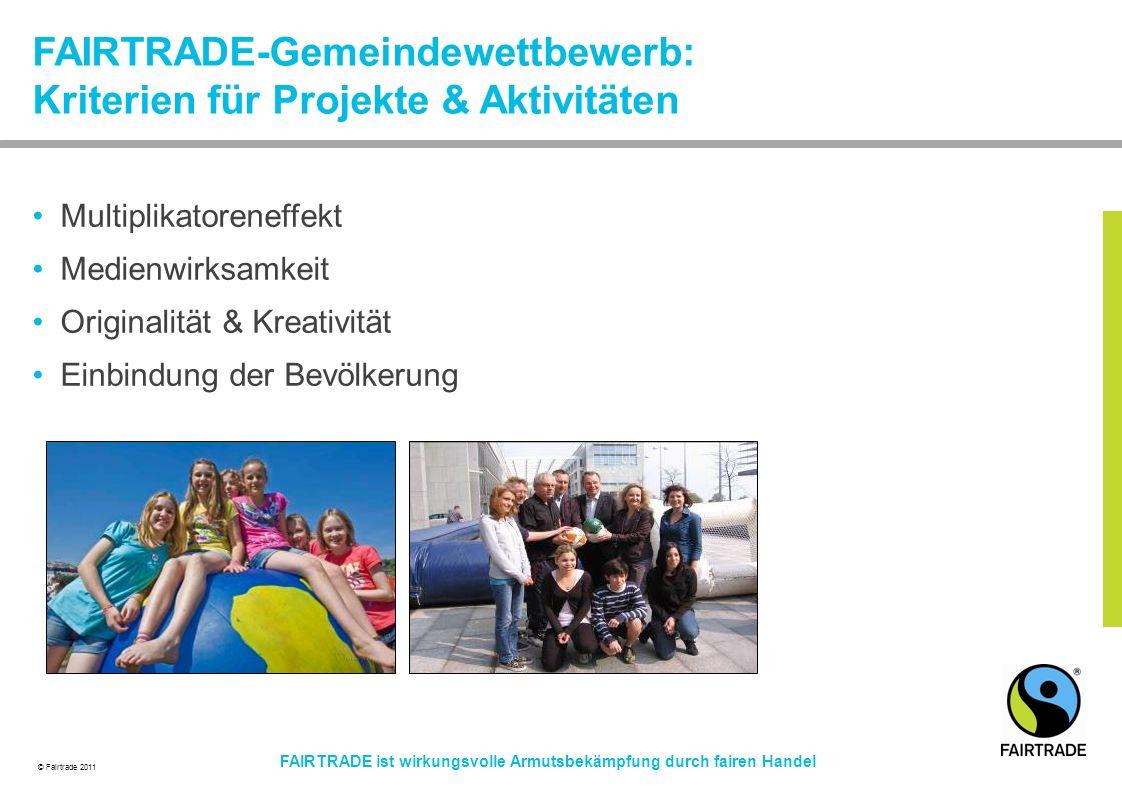FAIRTRADE-Gemeindewettbewerb: Kriterien für Projekte & Aktivitäten
