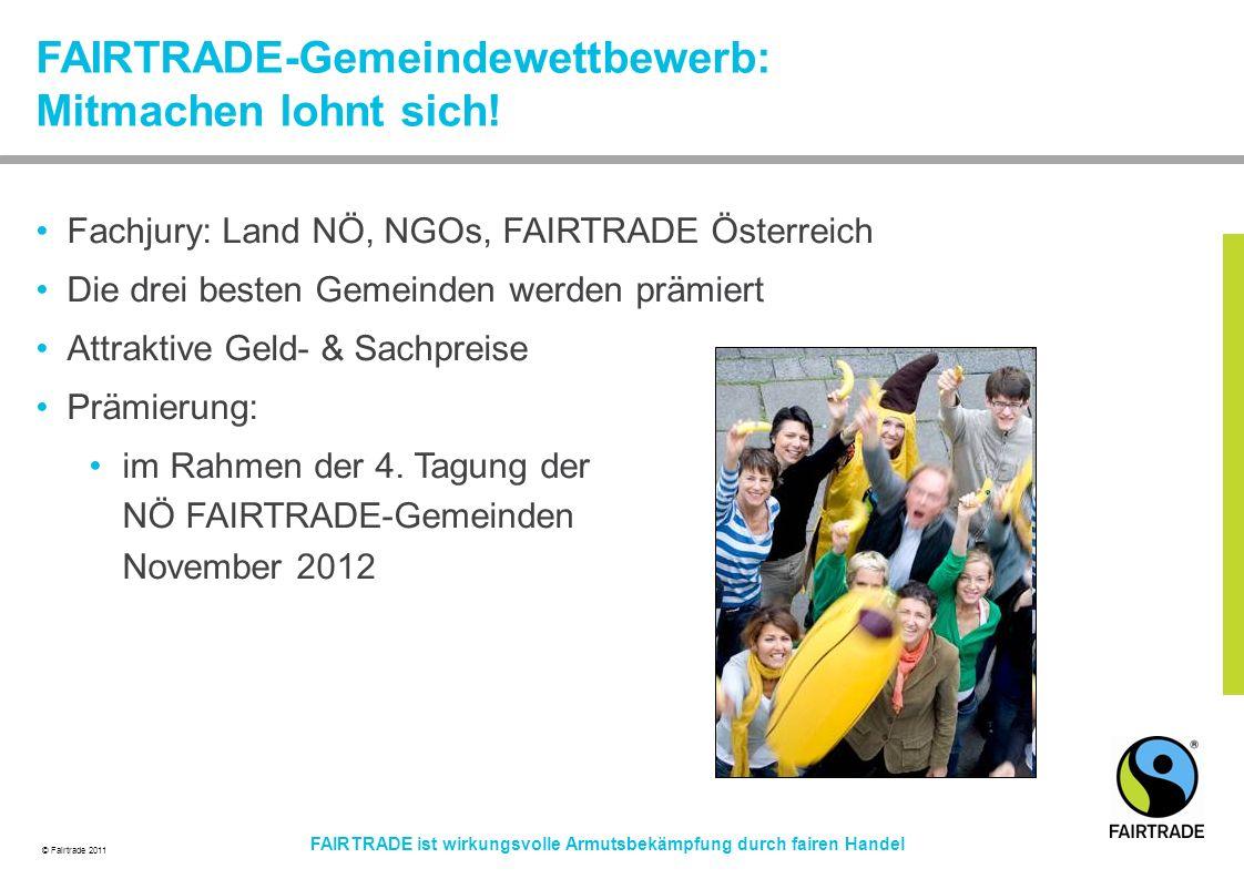 FAIRTRADE-Gemeindewettbewerb: Mitmachen lohnt sich!