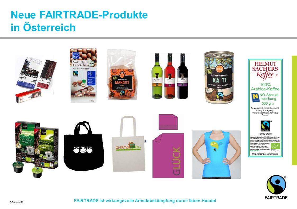 Neue FAIRTRADE-Produkte in Österreich