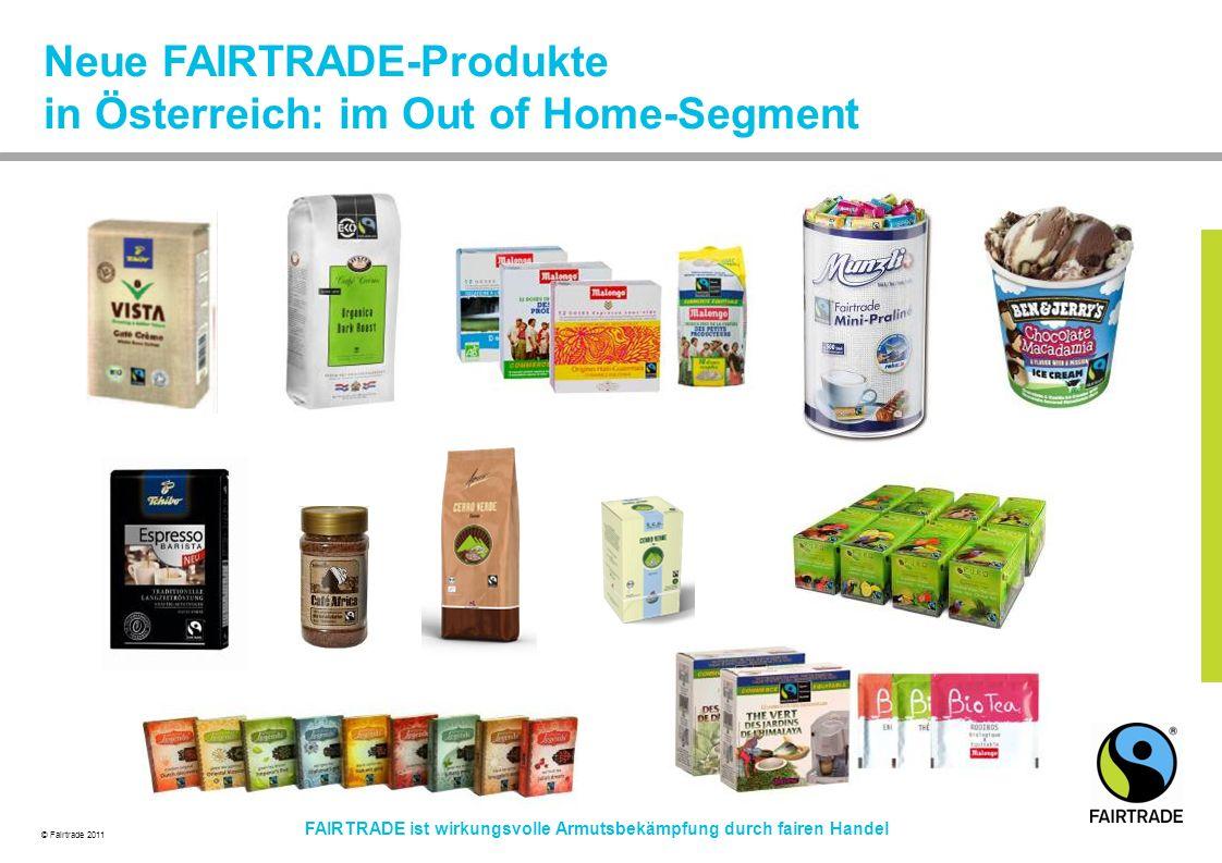 Neue FAIRTRADE-Produkte in Österreich: im Out of Home-Segment