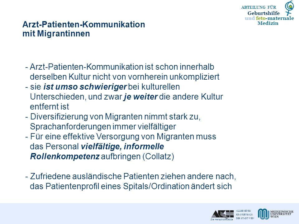 Arzt-Patienten-Kommunikation mit Migrantinnen