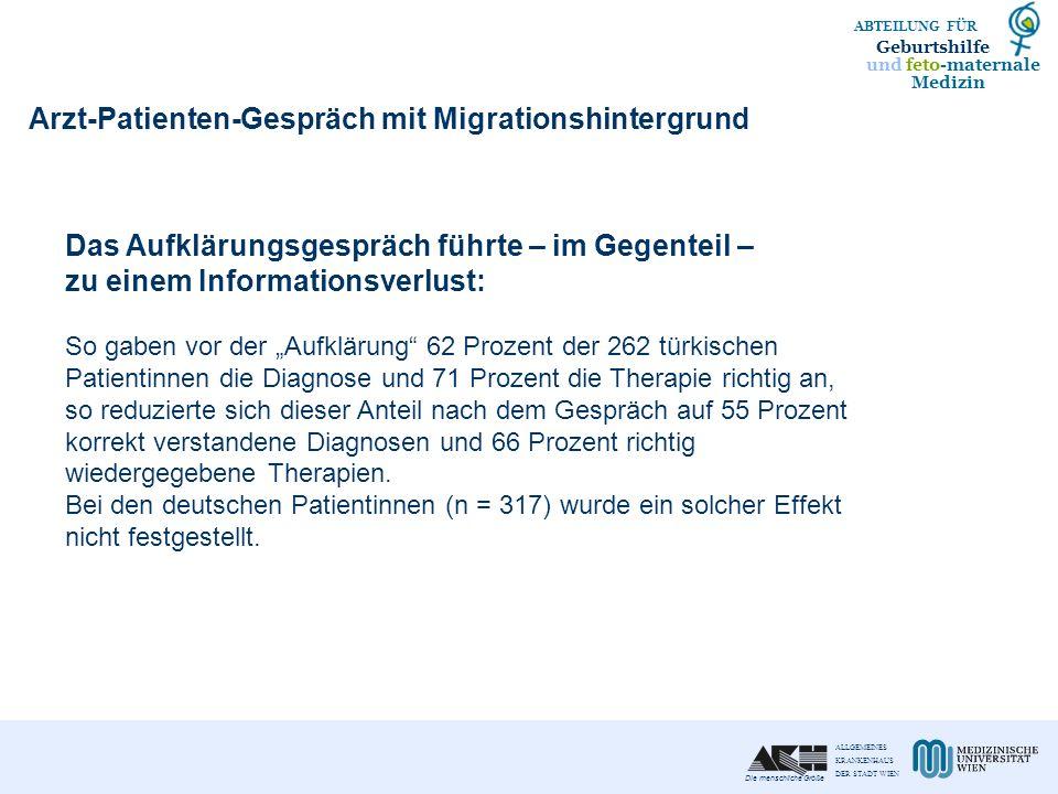 Arzt-Patienten-Gespräch mit Migrationshintergrund