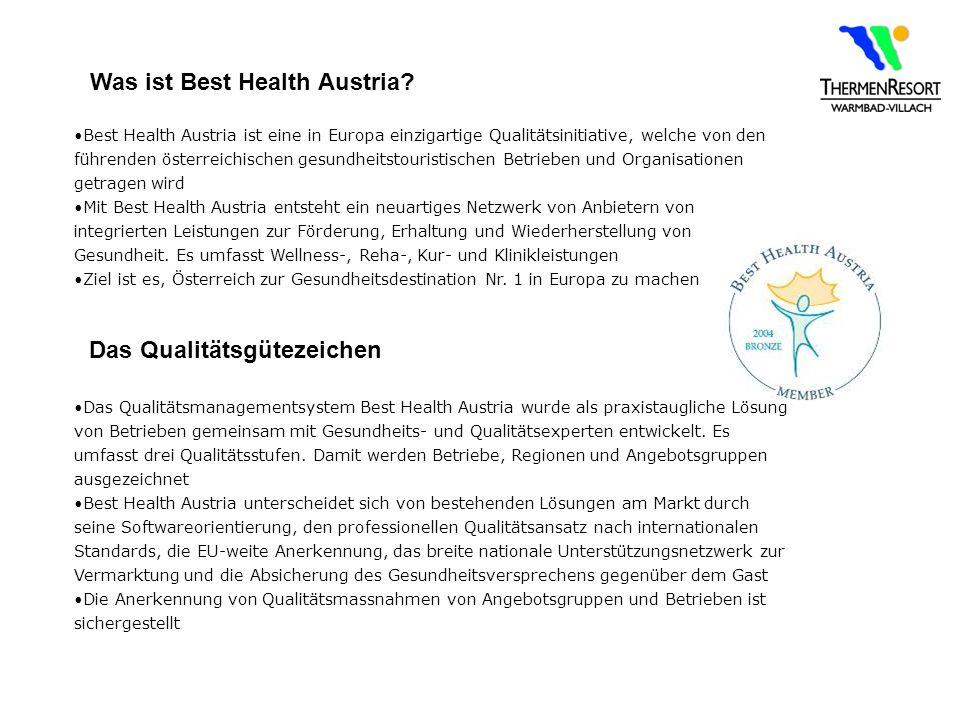 Was ist Best Health Austria Das Qualitätsgütezeichen