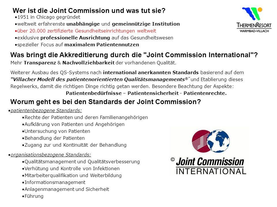 Wer ist die Joint Commission und was tut sie
