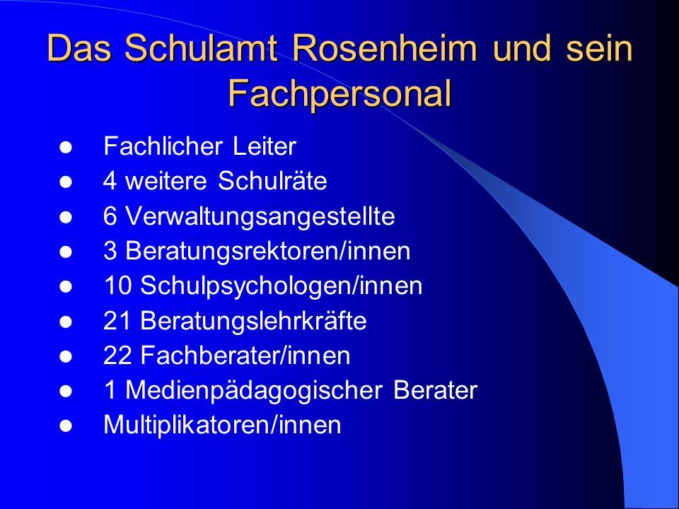 Das Schulamt Rosenheim und sein Fachpersonal