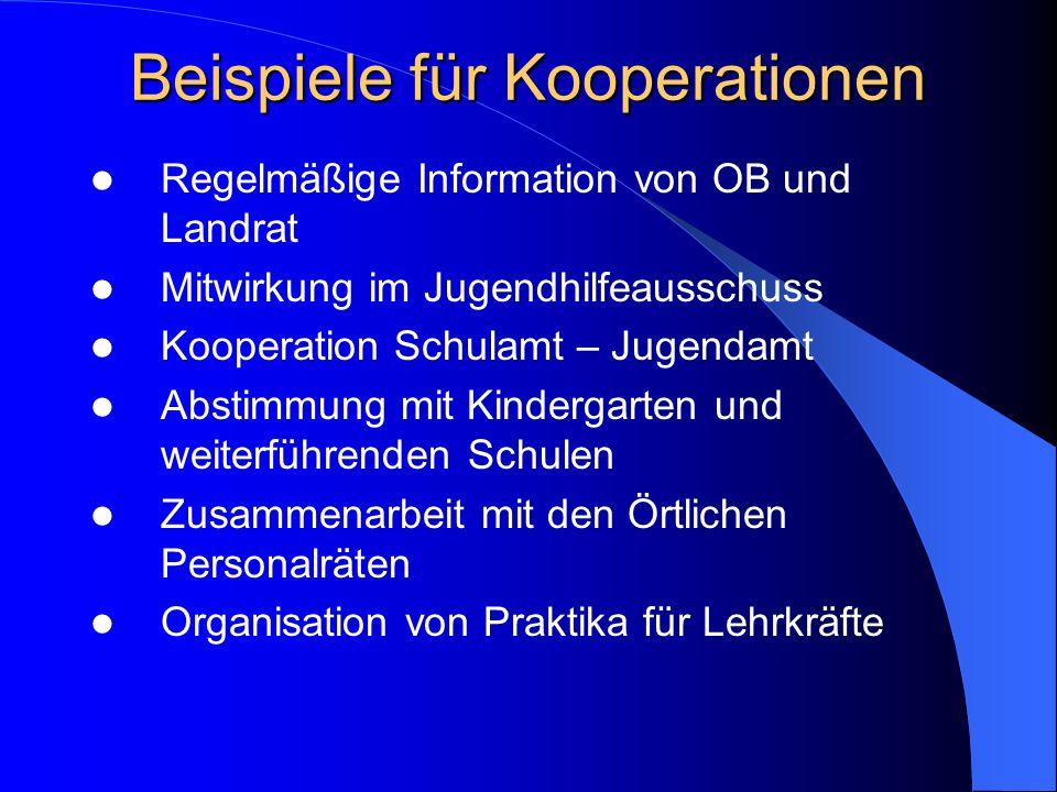 Beispiele für Kooperationen