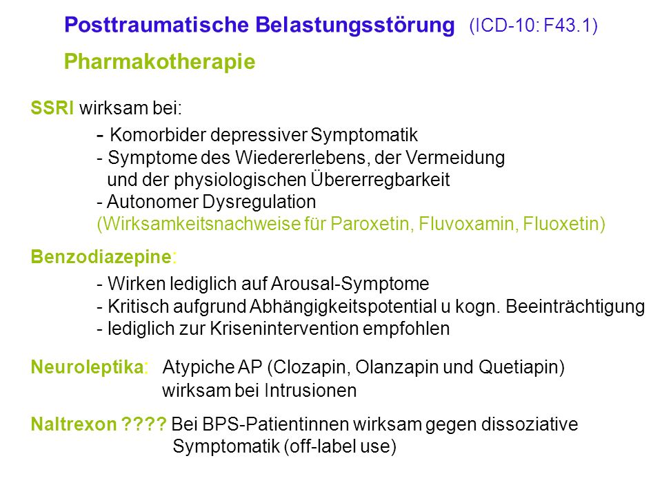 Posttraumatische Belastungsstörung (ICD-10: F43.1)