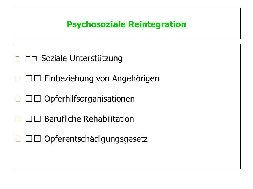 Psychosoziale Reintegration