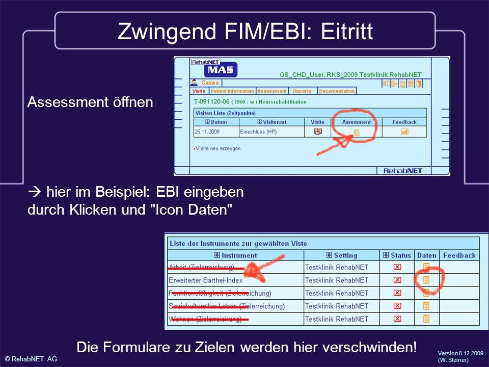 Zwingend FIM/EBI: Eitritt