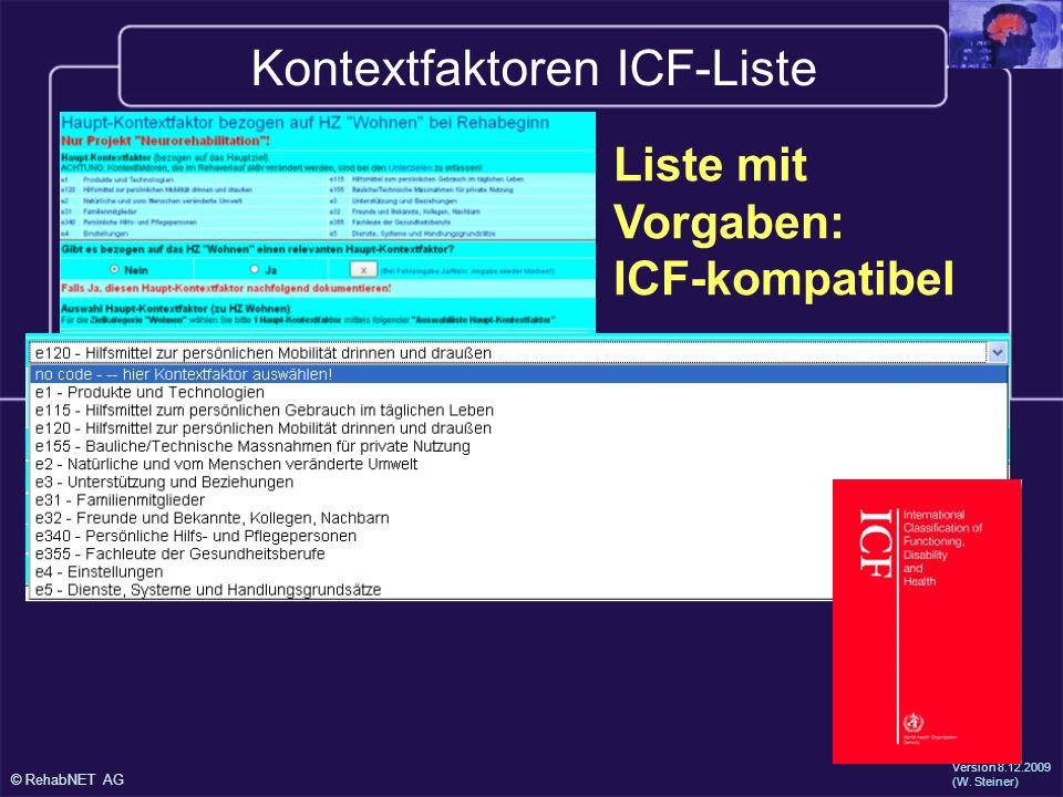 Kontextfaktoren ICF-Liste