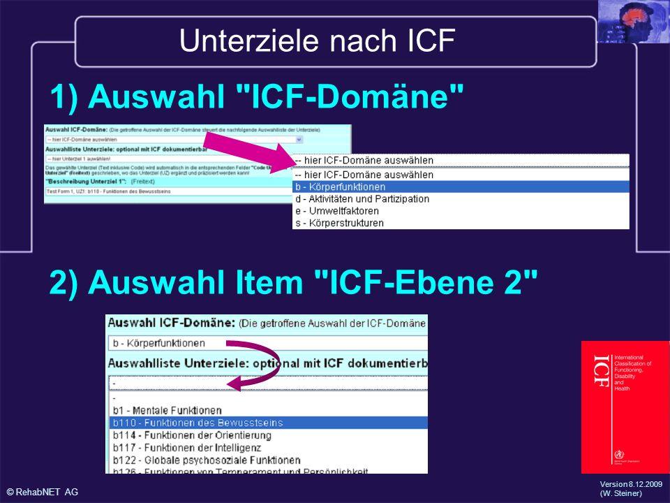 2) Auswahl Item ICF-Ebene 2