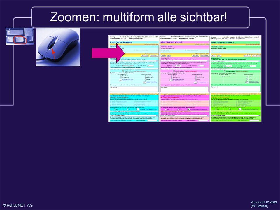 Zoomen: multiform alle sichtbar!