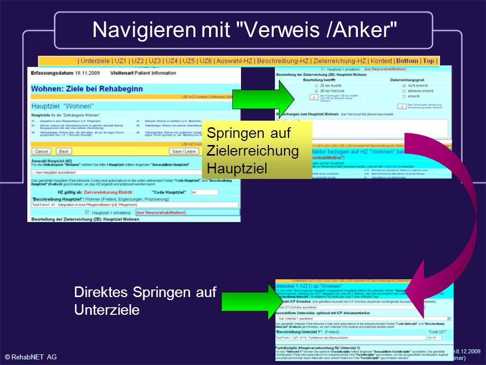 Navigieren mit Verweis /Anker