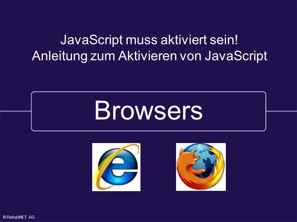 Browsers JavaScript muss aktiviert sein!