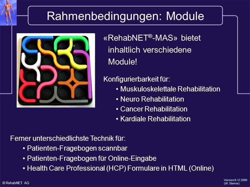 Rahmenbedingungen: Module