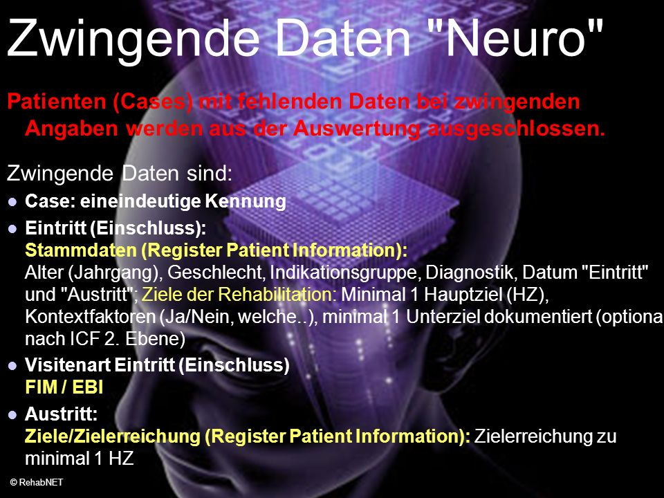 Zwingende Daten Neuro Data Quality