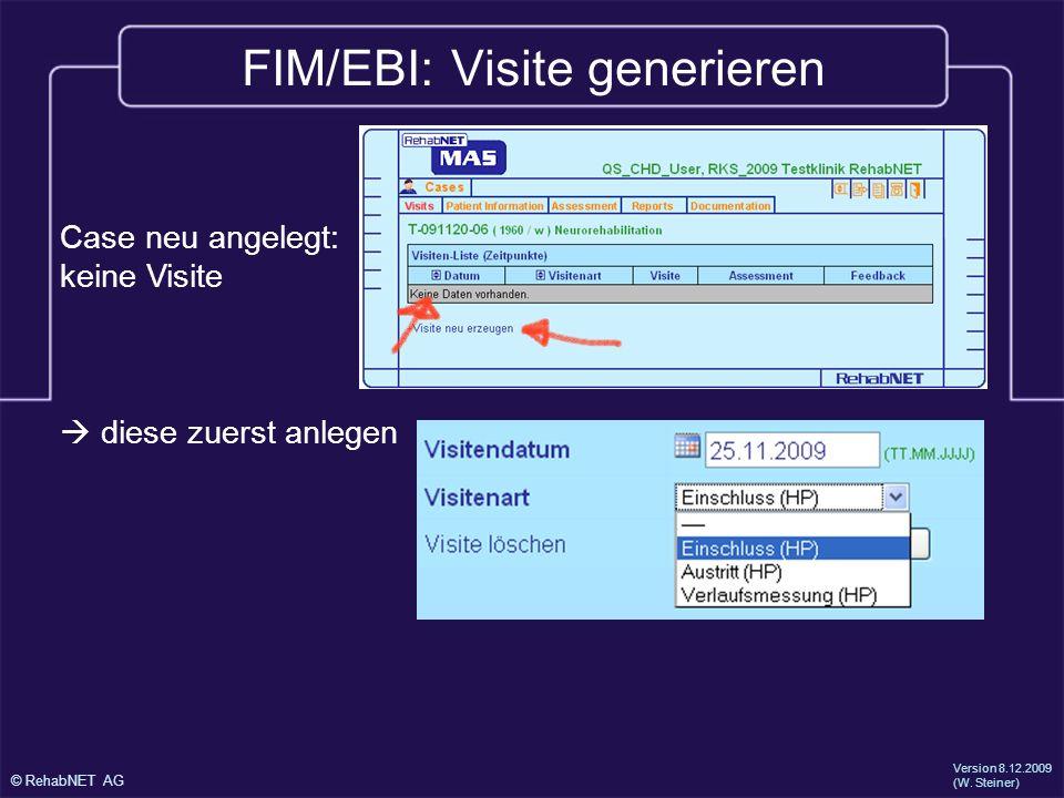 FIM/EBI: Visite generieren