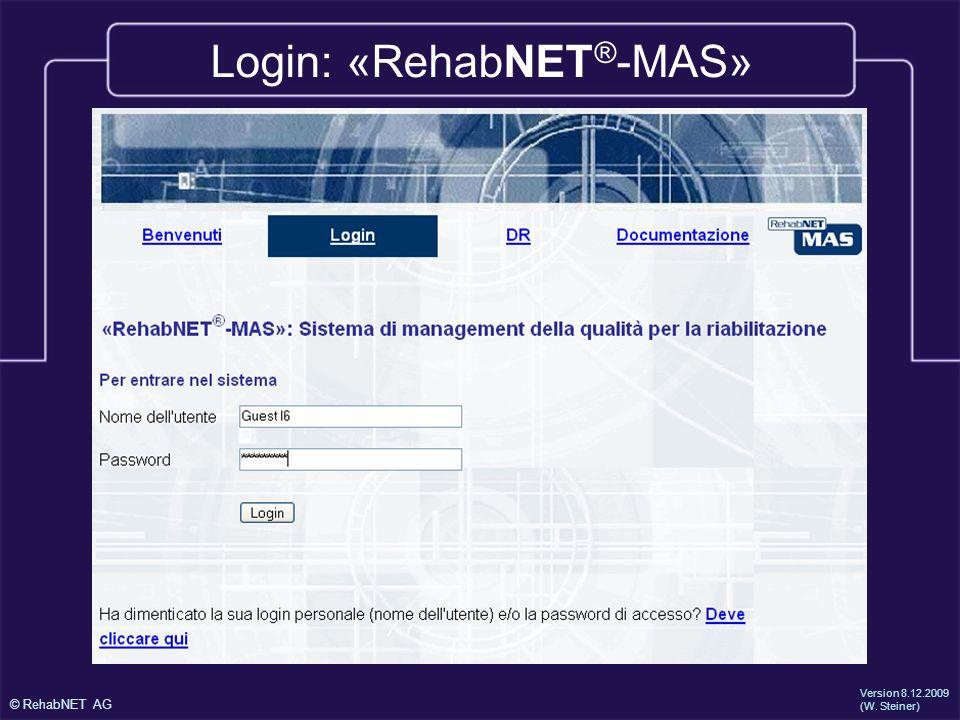 Login: «RehabNET®-MAS»