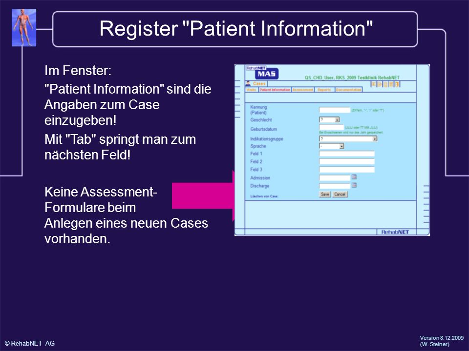 Register Patient Information
