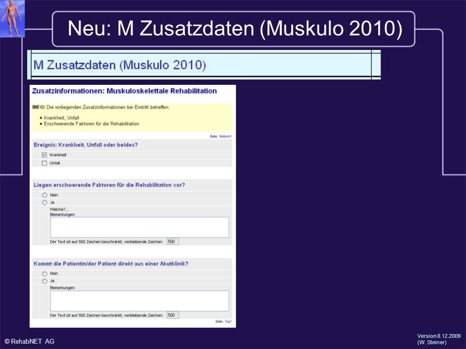 Neu: M Zusatzdaten (Muskulo 2010)
