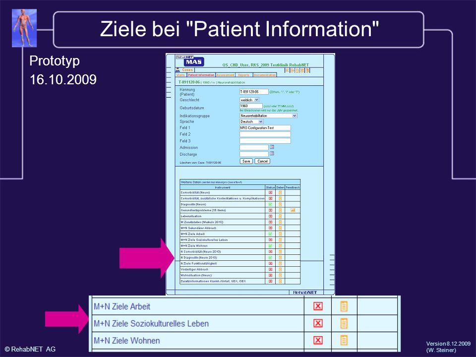 Ziele bei Patient Information
