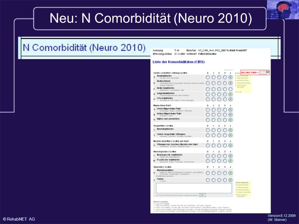 Neu: N Comorbidität (Neuro 2010)