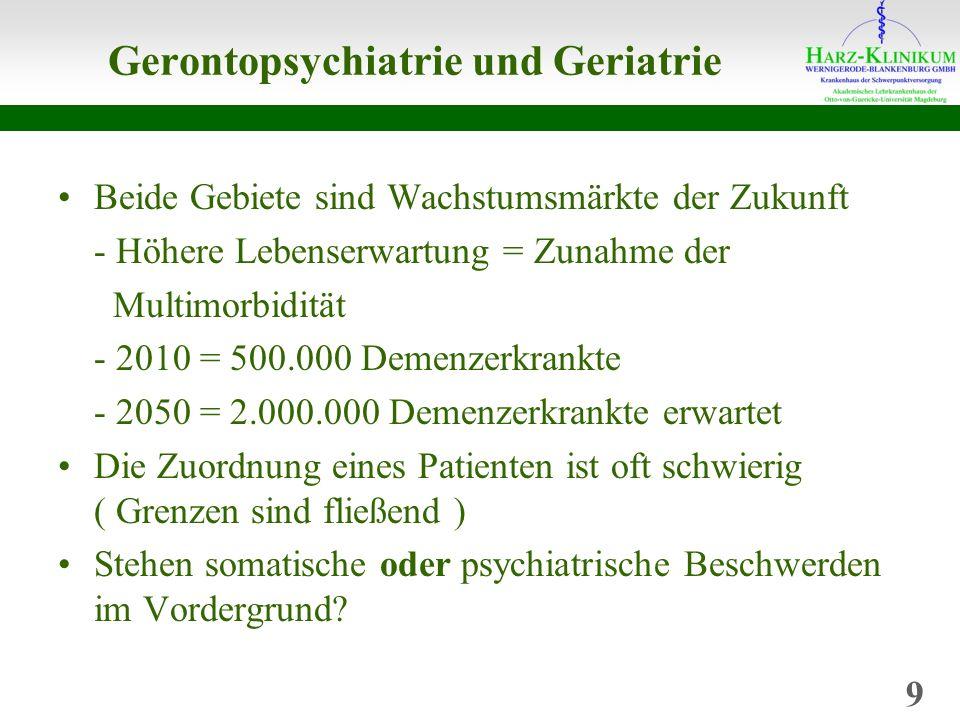 Gerontopsychiatrie und Geriatrie