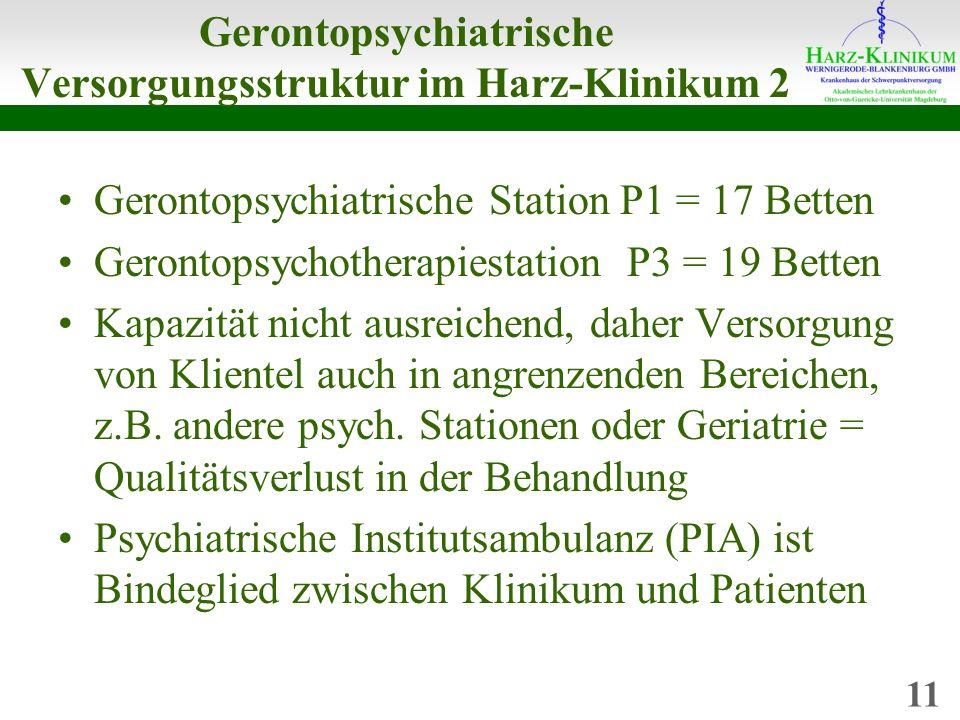 Gerontopsychiatrische Versorgungsstruktur im Harz-Klinikum 2