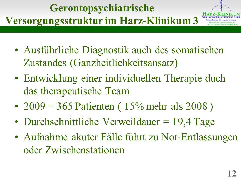 Gerontopsychiatrische Versorgungsstruktur im Harz-Klinikum 3