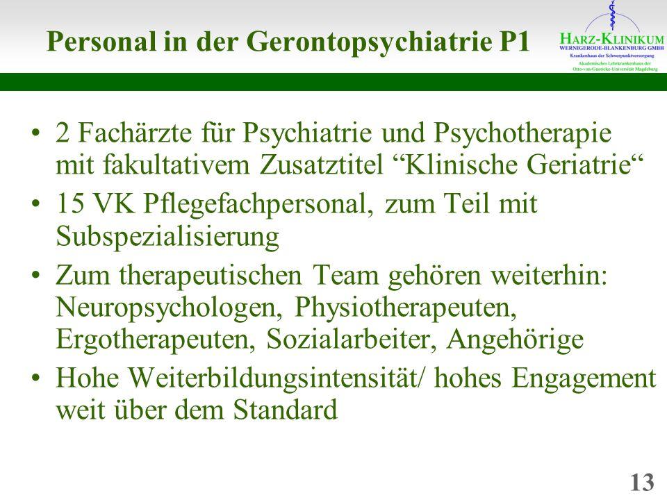 Personal in der Gerontopsychiatrie P1
